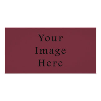 Claret Maroon Red Color Trend Blank Template Photo Greeting Card
