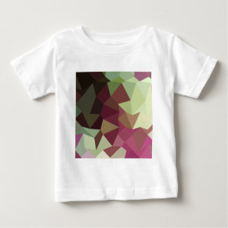 Claret Red Abstract Low Polygon Background Baby T-Shirt