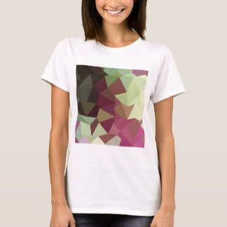 Claret Red Abstract Low Polygon Background T-Shirt