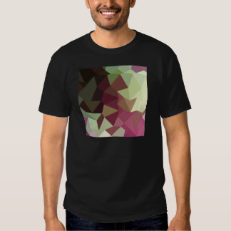 Claret Red Abstract Low Polygon Background T-shirts