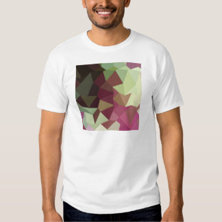 Claret Red Abstract Low Polygon Background Tees