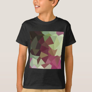 Claret Red Abstract Low Polygon Background Tshirt