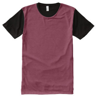 Claret Red All-Over Print T-Shirt