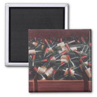 Claret Tasting Square Magnet