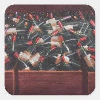 Claret Tasting Square Sticker