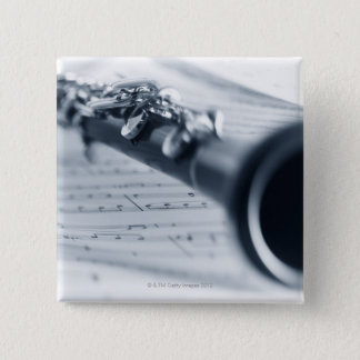 Clarinet 15 Cm Square Badge
