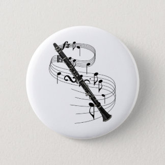 Clarinet 6 Cm Round Badge