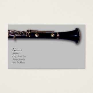 Clarinet and Mozart Business Card