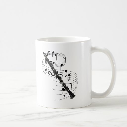 Clarinet Basic White Mug