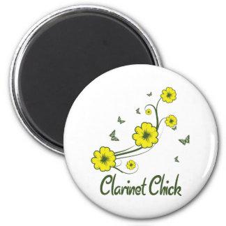 Clarinet Chick 6 Cm Round Magnet