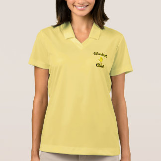 Clarinet Chick Polo T-shirts