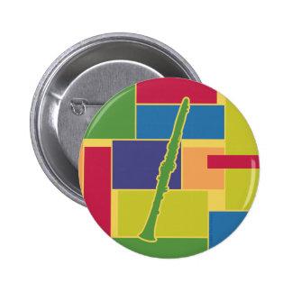 Clarinet Colorblocks Button