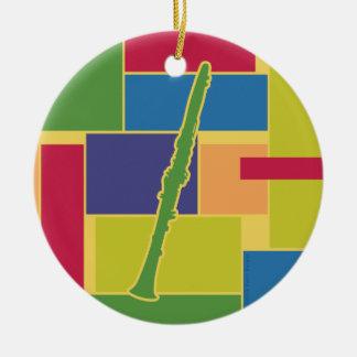 Clarinet Colorblocks Ornament