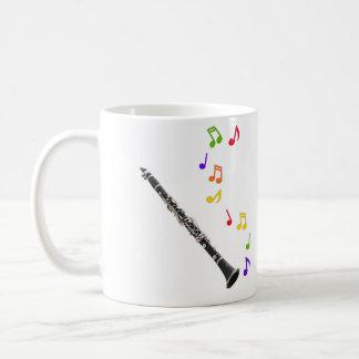 Clarinet Colorful Music Lefthand Coffee Mug