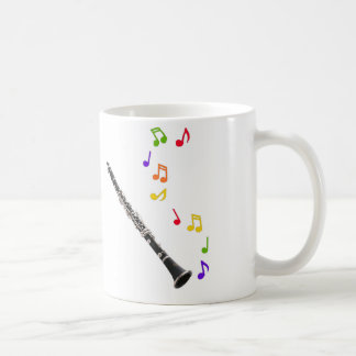 Clarinet Colorful Music Righthand Coffee Mug