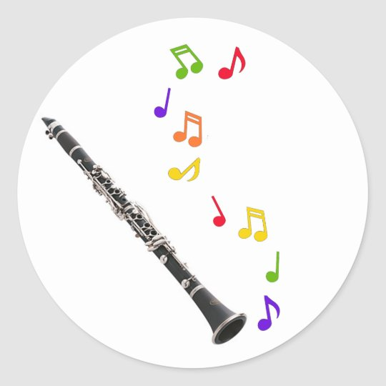 Clarinet Colourful Music Sticker