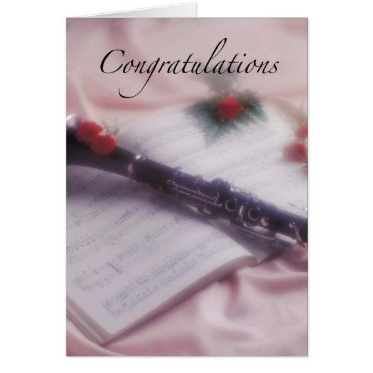 Clarinet Congratulations Card