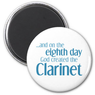 Clarinet Creation 6 Cm Round Magnet