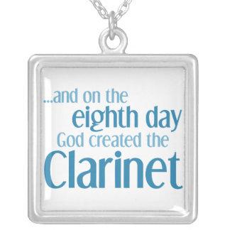 Clarinet Creation Square Pendant Necklace