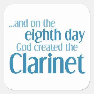 Clarinet Creation Square Sticker