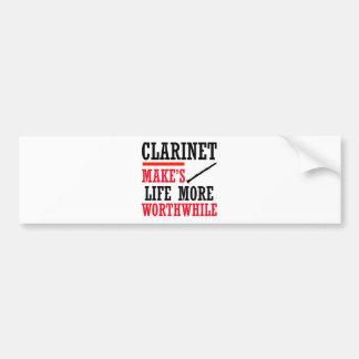 clarinet design bumper sticker