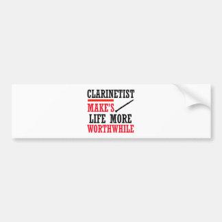 clarinet design bumper stickers