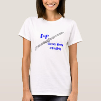 Clarinet E=Fb Clarinet Theory of Relativity Shirt