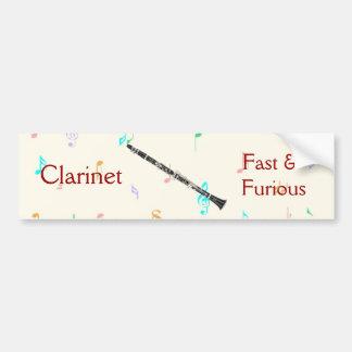 Clarinet Fast Furious Bumper Sticker