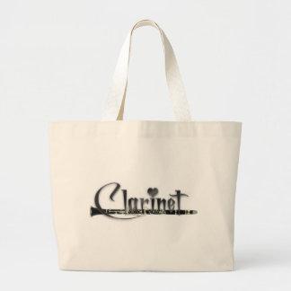 Clarinet I Love Clarinet Large Tote Bag