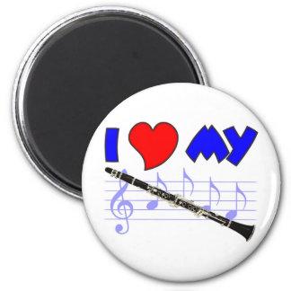 Clarinet Love 6 Cm Round Magnet