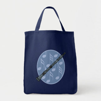 Clarinet Music Note Gift Grocery Tote Bag
