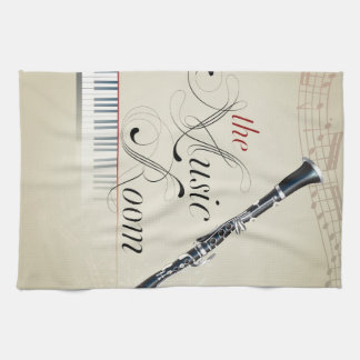 Clarinet Music Room Tea Towel