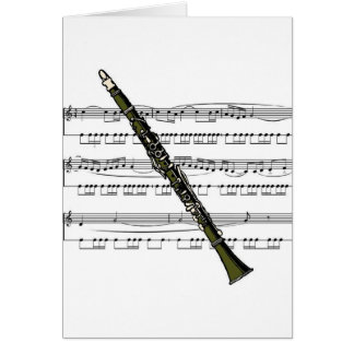Clarinet musical 09 B Card