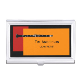 Clarinet Musician Business Card Case