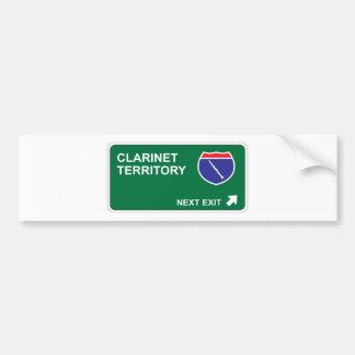 Clarinet Next Exit Bumper Sticker