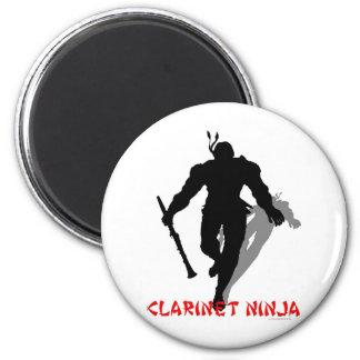Clarinet Ninja 6 Cm Round Magnet