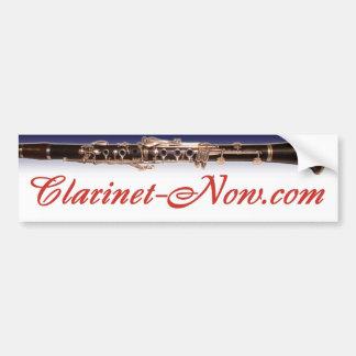 Clarinet-Now com Bumper Sticker