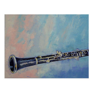 Clarinet Painting Postcard