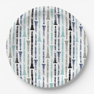 Clarinet Pattern 9 Inch Paper Plate