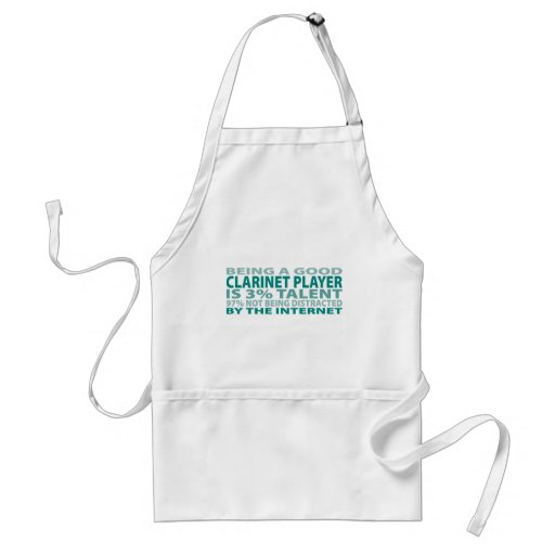 Clarinet Player 3% Talent Aprons