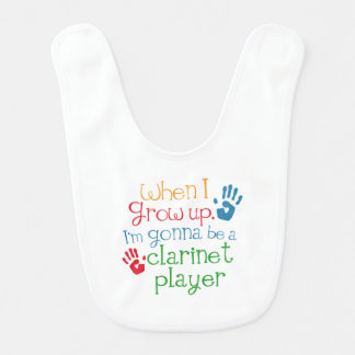 Clarinet Player (Future) Child Baby Bib