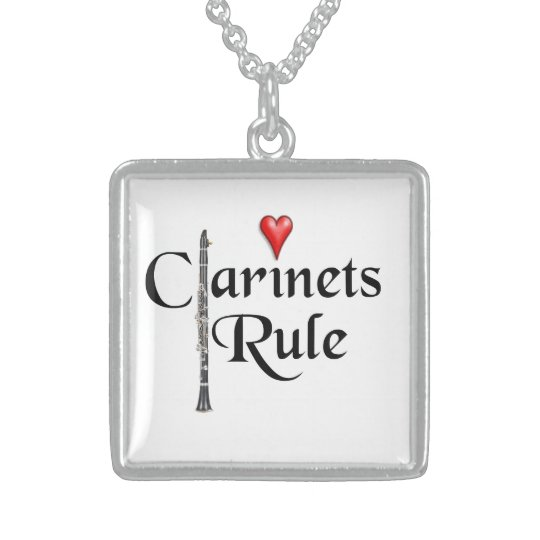 Clarinet Player Musician necklace jewellery ANY