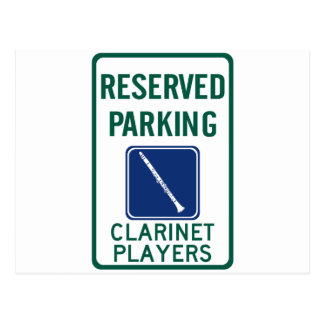 Clarinet Players Parking Postcard