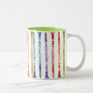 Clarinet Rainbow Wrap Two-Tone Mug