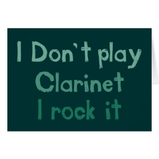 Clarinet Rock It Greeting Card