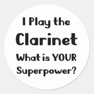 Clarinet Round Sticker