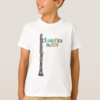 Clarinet Rules Dark Color Text T-Shirt