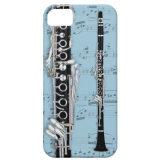 Clarinet & sheet music phone case. Pick color iPhone 5 Case