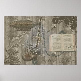 Clarinet Steampunk Escapade Poster