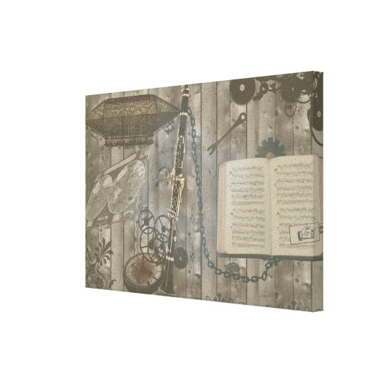 Clarinet Steampunk Fantasy Canvas Print